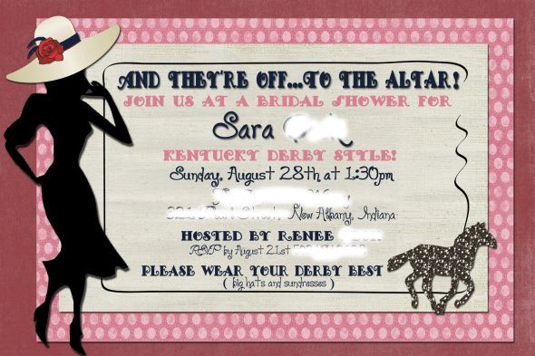How cute is this invite theyre off to the altar wedding bridal how cute is this invite theyre off to the altar wedding bridal shower kentucky derby bridal shower invite edited filmwisefo