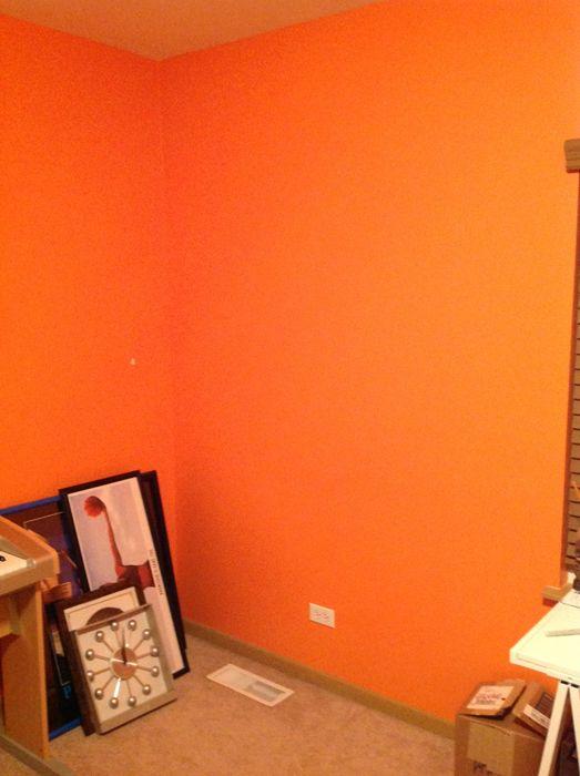 Bright Orange Walls Google Search Black Painted Walls Black