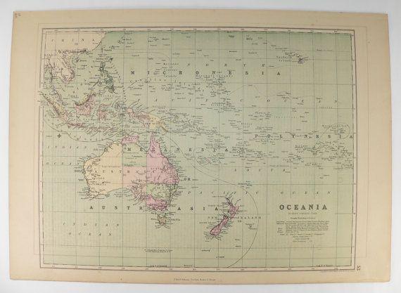 1873 antique oceania map hawaii australia map polynesia malaysia 1873 antique oceania map hawaii australia map polynesia malaysia map unique wedding gumiabroncs Choice Image