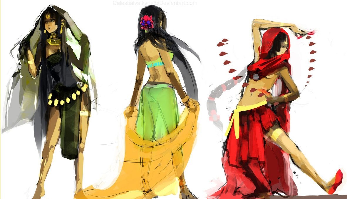 Indian attire rough draft indian attire india art indian