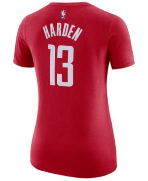 new arrival c38c8 7e218 Nike Women's James Harden Houston Rockets Name & Number ...