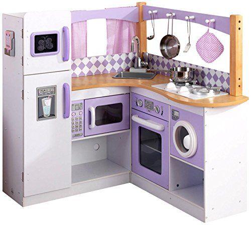 Toy Kitchen Sets Kidkraft Grand Gourmet Corner Kitchen Lavender