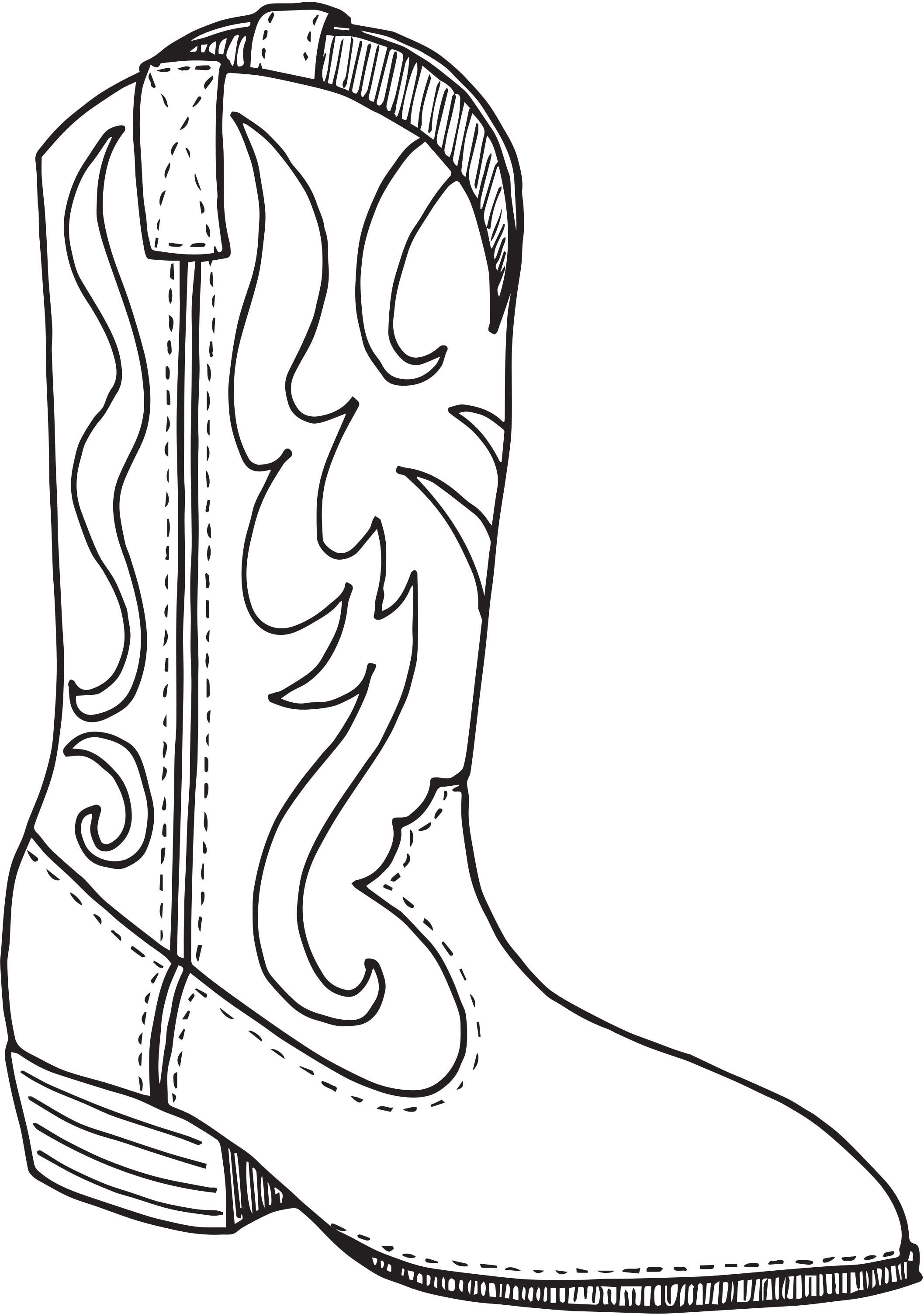 Day 5 Cowboy Boot Coloring Page