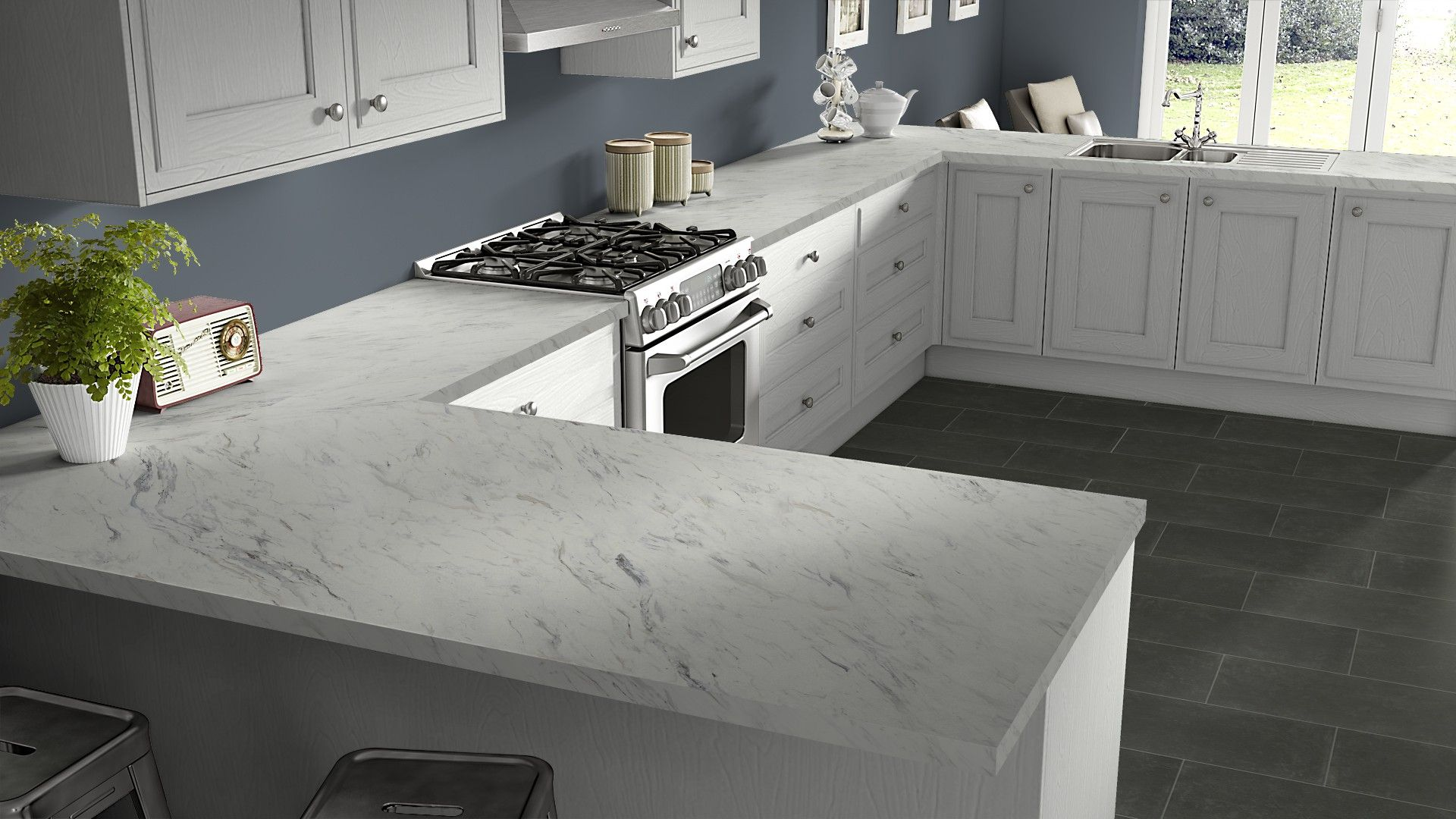 Calcutta Marble Laminate Get Inspired For Your Kitchen Renovation With Wilsonart 39 S Free