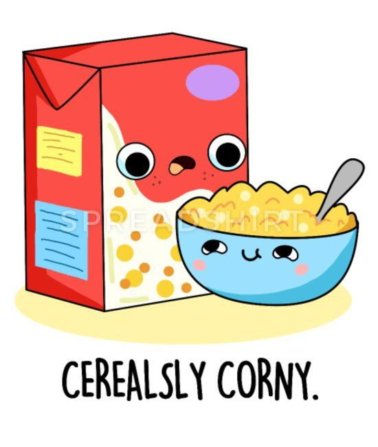 Download Cerealsly Corny Cute Milk And Cereal Pun Kids' T-Shirt ...