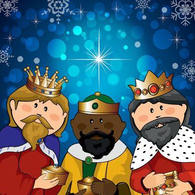 Banco De Imagenes Ilustracion Colorida De Los Tres Reyes Magos En Caricatura Feliz Dia De Reyes Feliz Reyes Magos Rey Mago