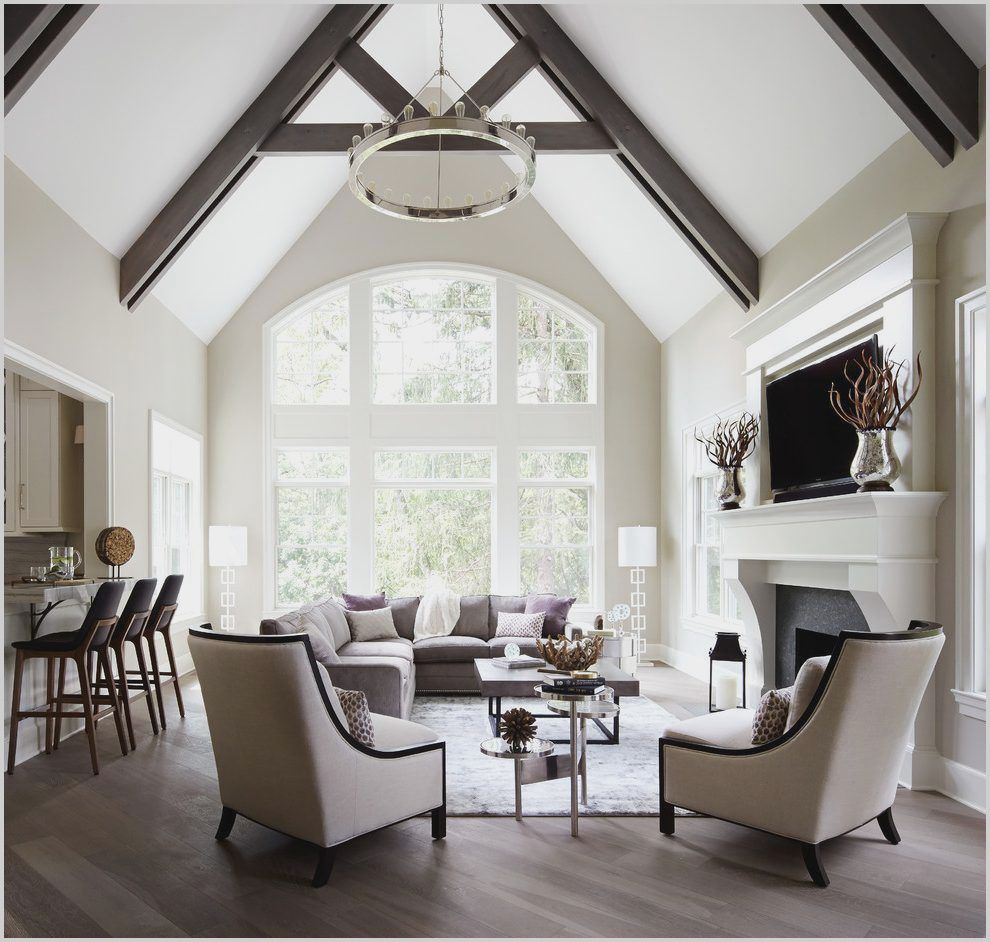Host A Holiday Party With Friends And Family In This Vast High Vaulted Living R Vaulted Living Rooms High Ceiling Living Room Furniture Placement Living Room