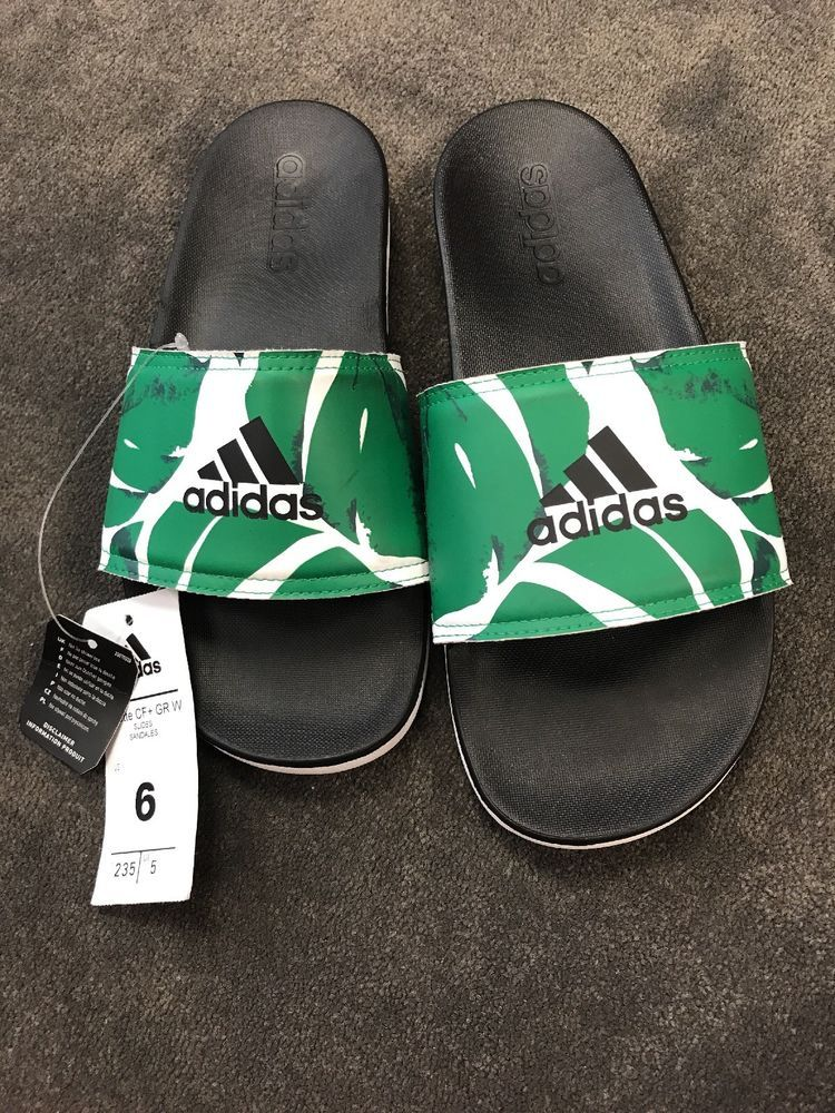 676a0d1509c4 Adidas Adilette Slides Green Womens Women s Size 6 NWT  adidas  Slides