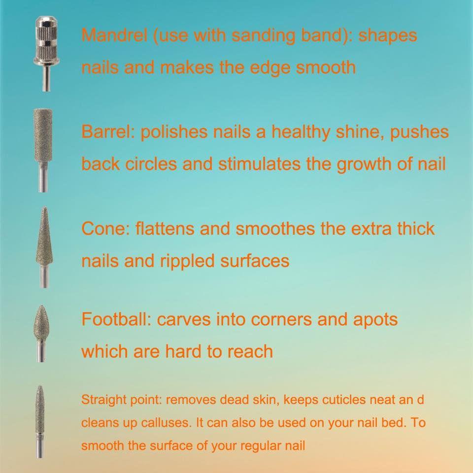 Usage Tips Of Acrylic Nail Drill Bits Acrylic Nail Drill Diy Acrylic Nails Acrylic Nail Tips