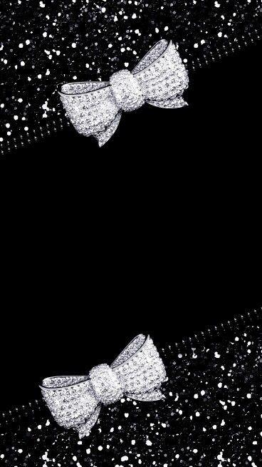 #bows #bling #glitter #black #madebyniki | Flower Phone Wallpaper, Bling Wallpaper, Bow Wallpaper 512