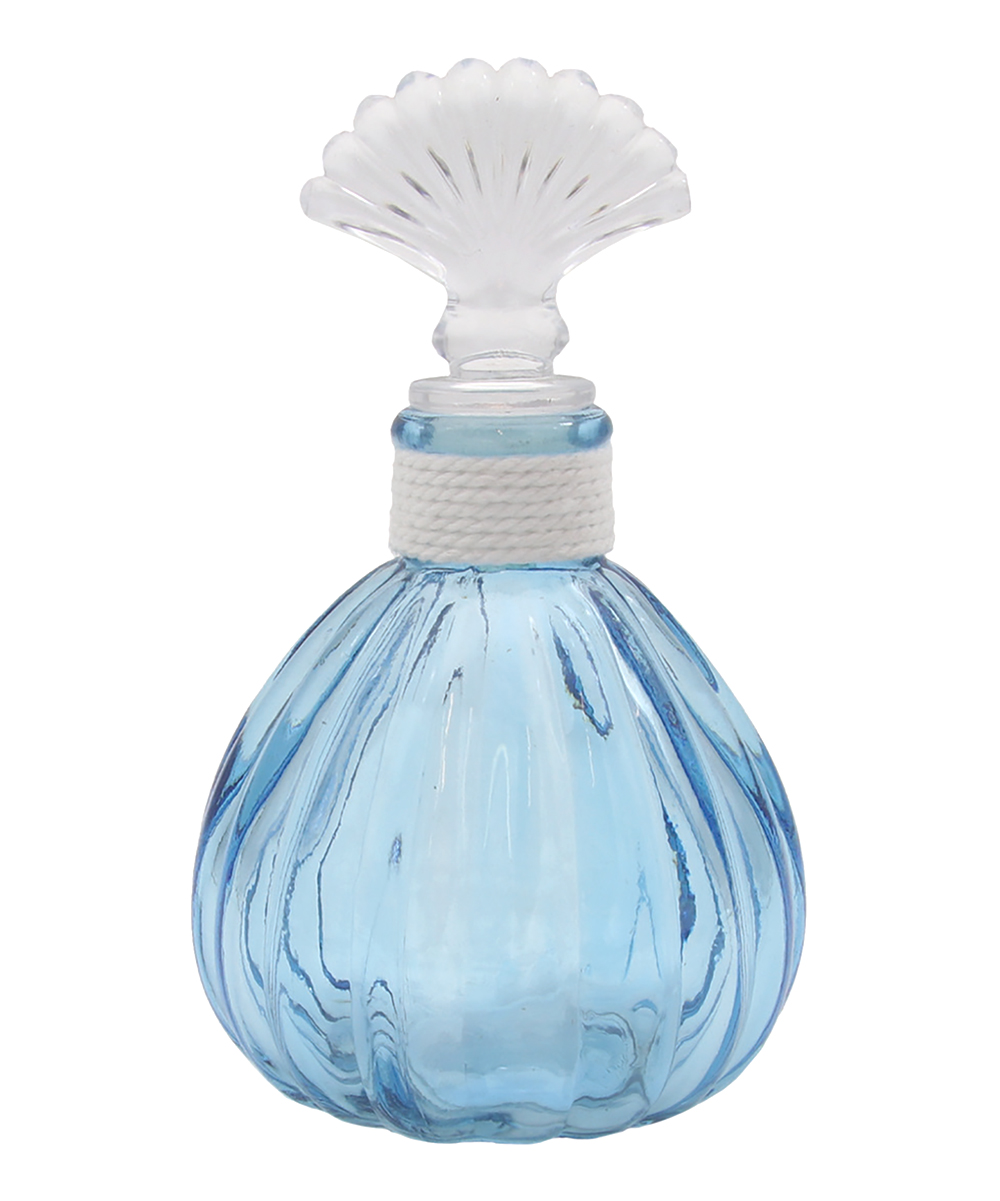 Dei Blue Shell Decorative Round Glass Bottle Bottle Stopper Zulily Steklyannaya Butylka
