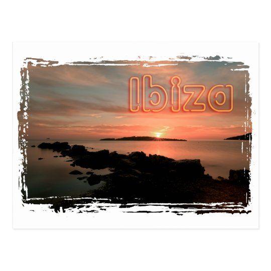 Postal de Ibiza al amanecer