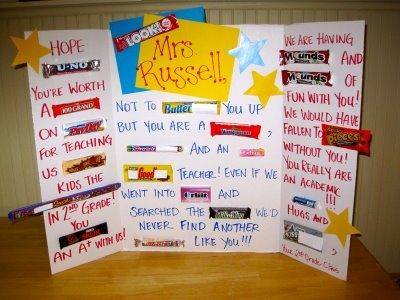 Candy Gram poster board