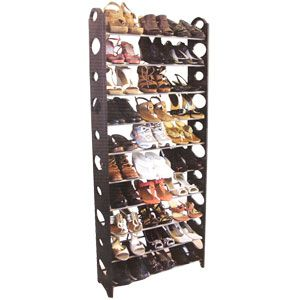 30 Pair Shoe Tower By Home Basics Shoe Tower With Textured Rails For Non Slip Support To Hold Shoes In Place Multiple Siz Shoe Rack Home Basics Shoe Organizer