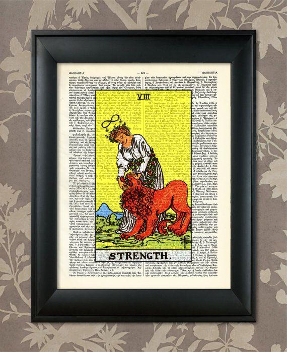 Strength, Tarot Card Print, Tarot Card Poster, Tarot Print, Tarot ...