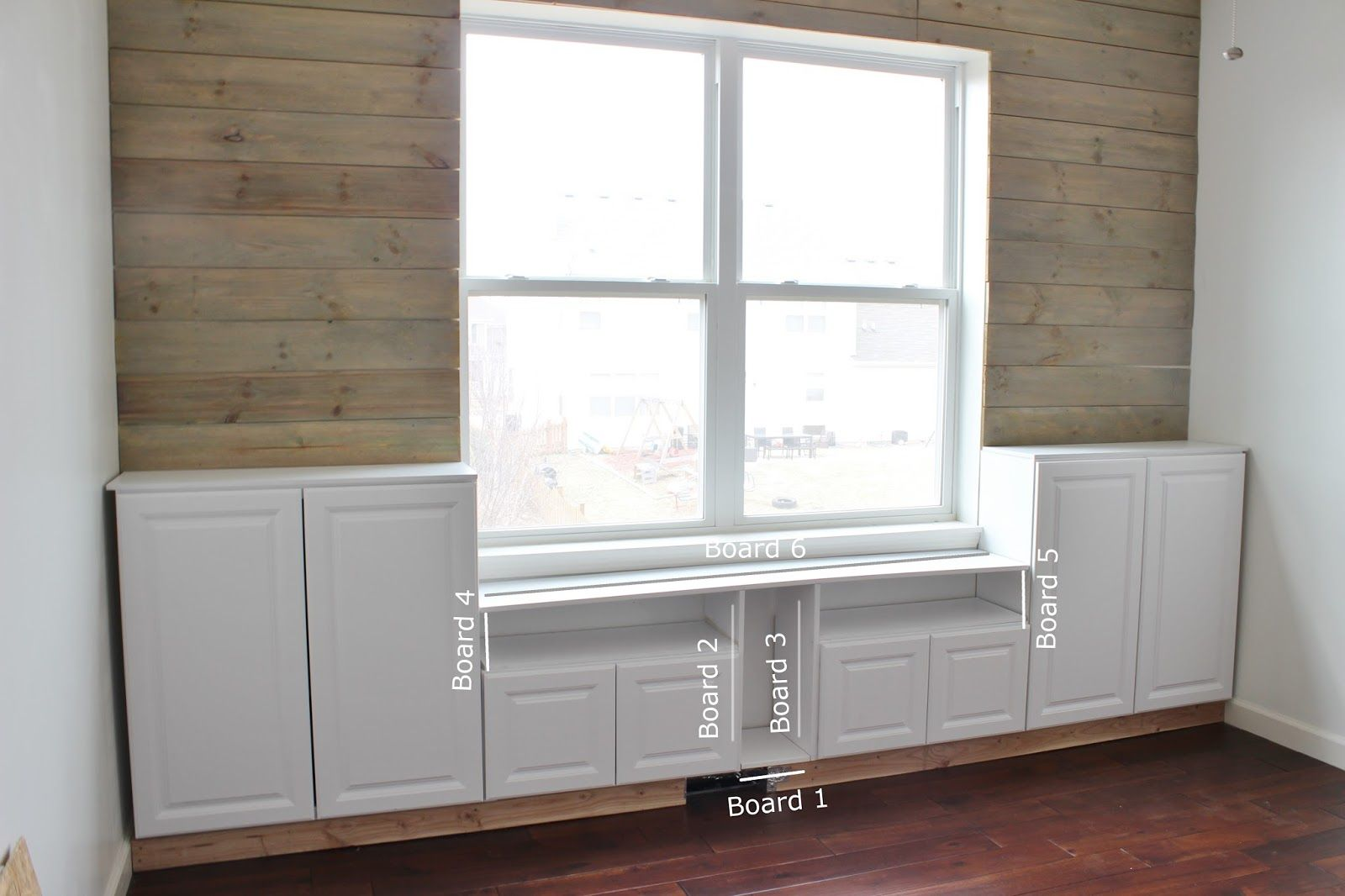 Remodelaholic Playroom Makeover With Built In Cabinets For Storage In 2020 Built In Cabinets Bedroom Built Ins Baseboard Heating