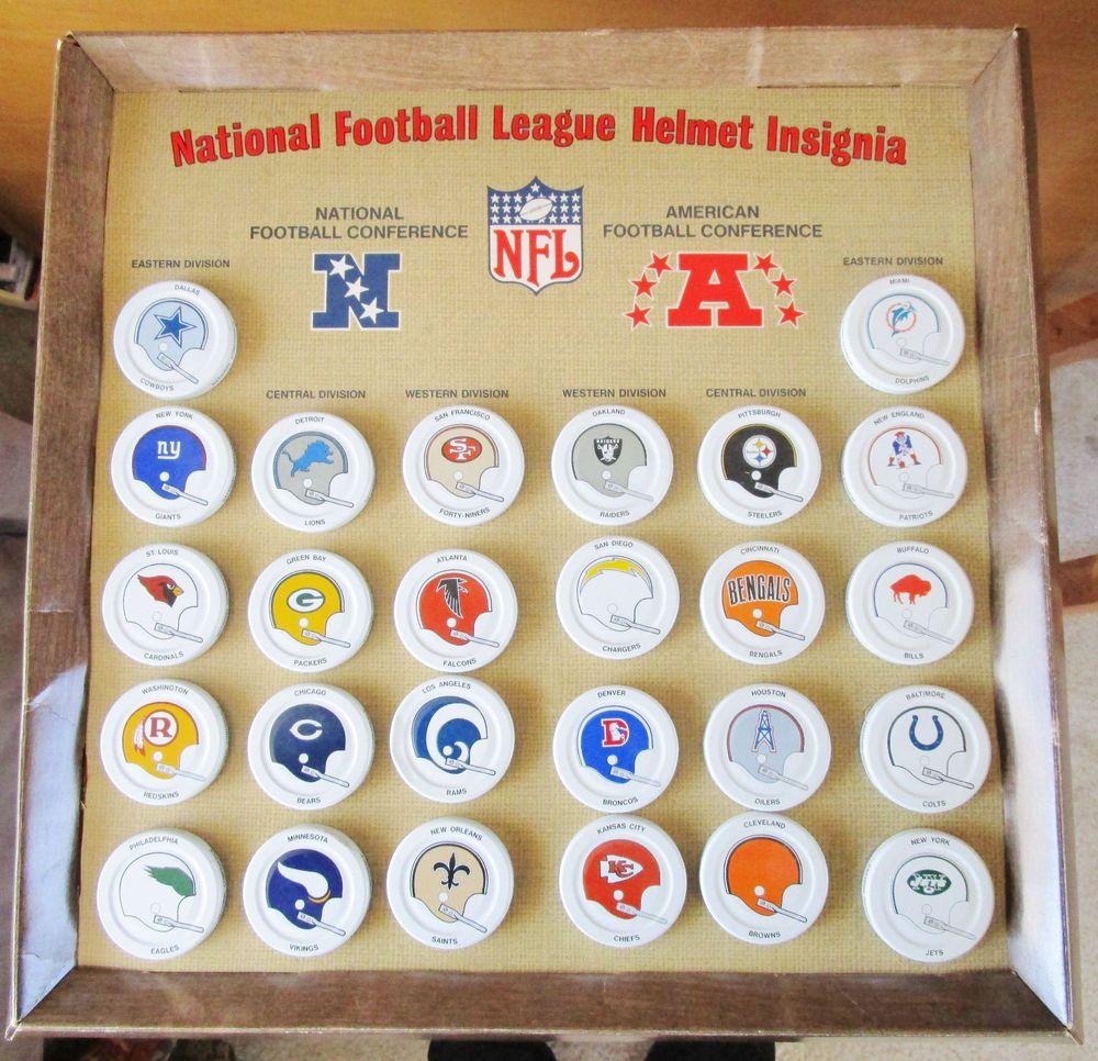 Gatorade Bottle Cap NFL 1970s Football Helmet Memorabilia Complete ...