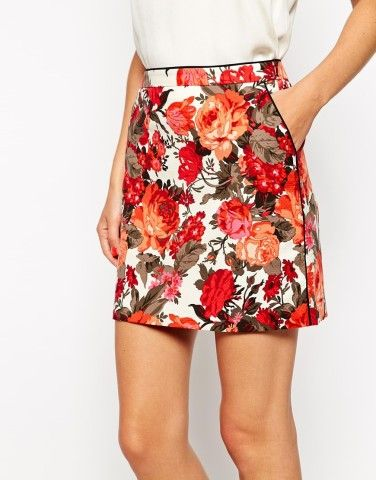 e8331c69be Oasis | Oasis Painted Rose Mini Skirt, How would you style this? http: