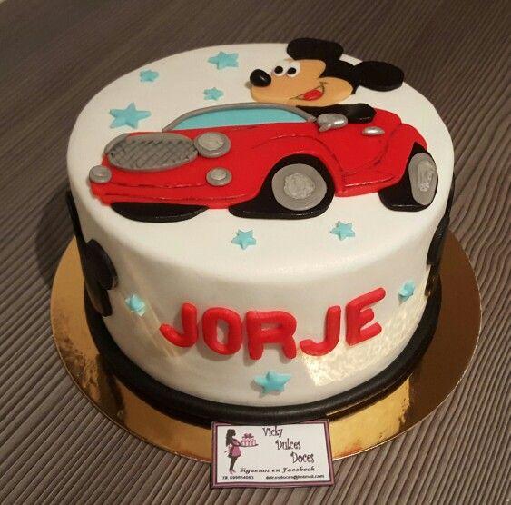 Tarta Mickey coche Jorge