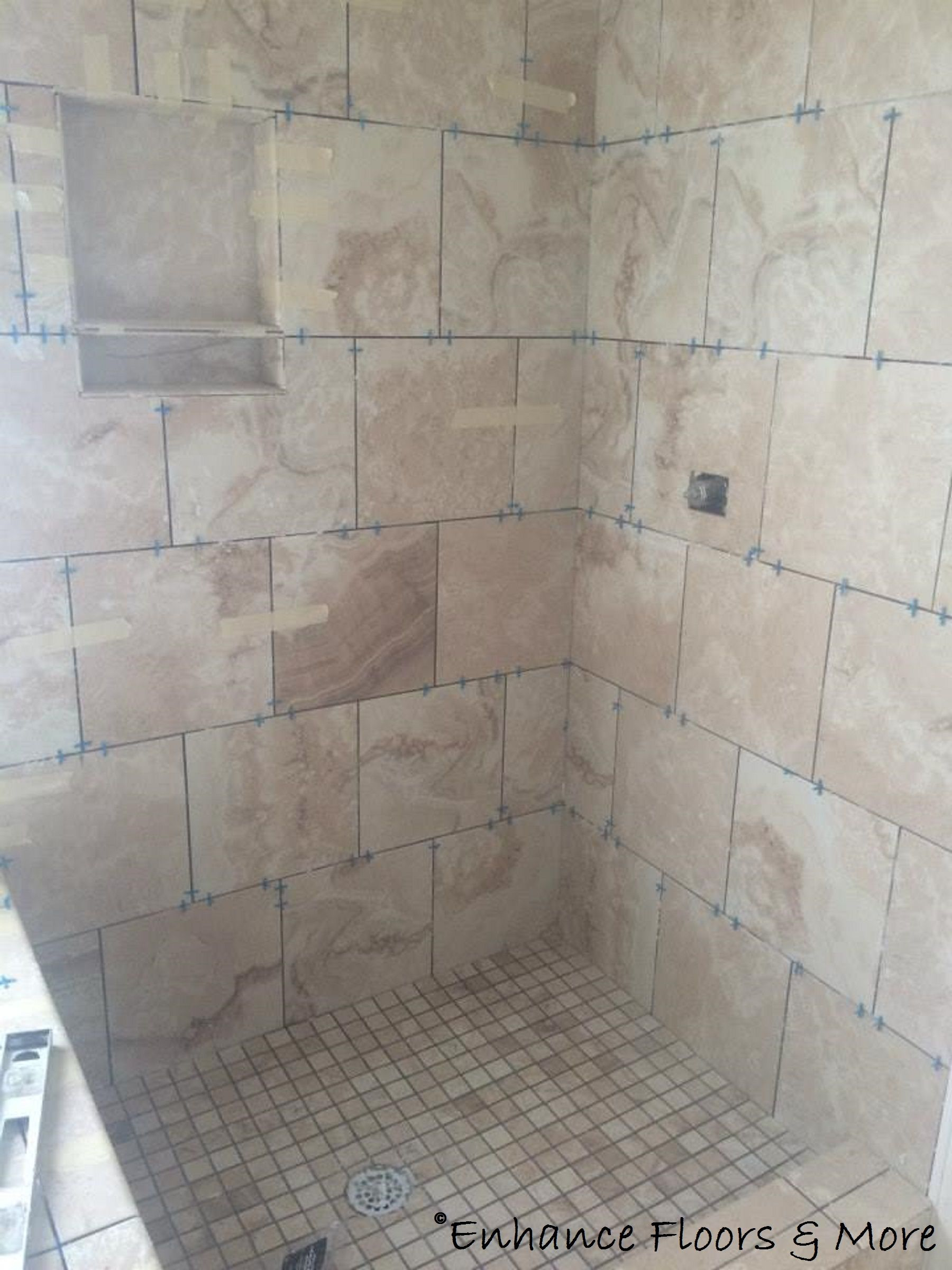 Shower Installation In Progress Interceramic La Travonya Tile Our