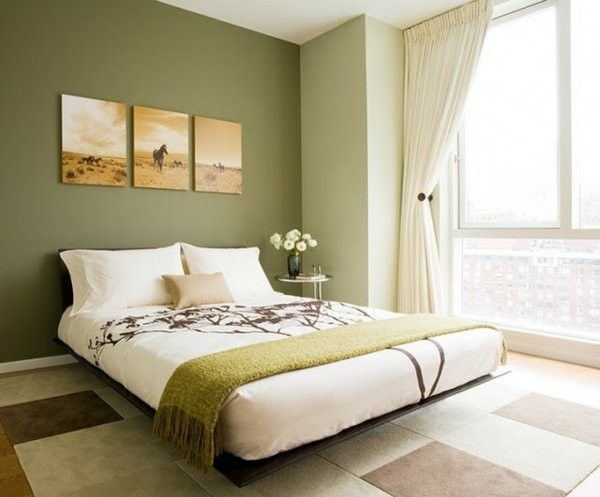 Wall Color Olive Green Is Trendy Minimalist Bedroom