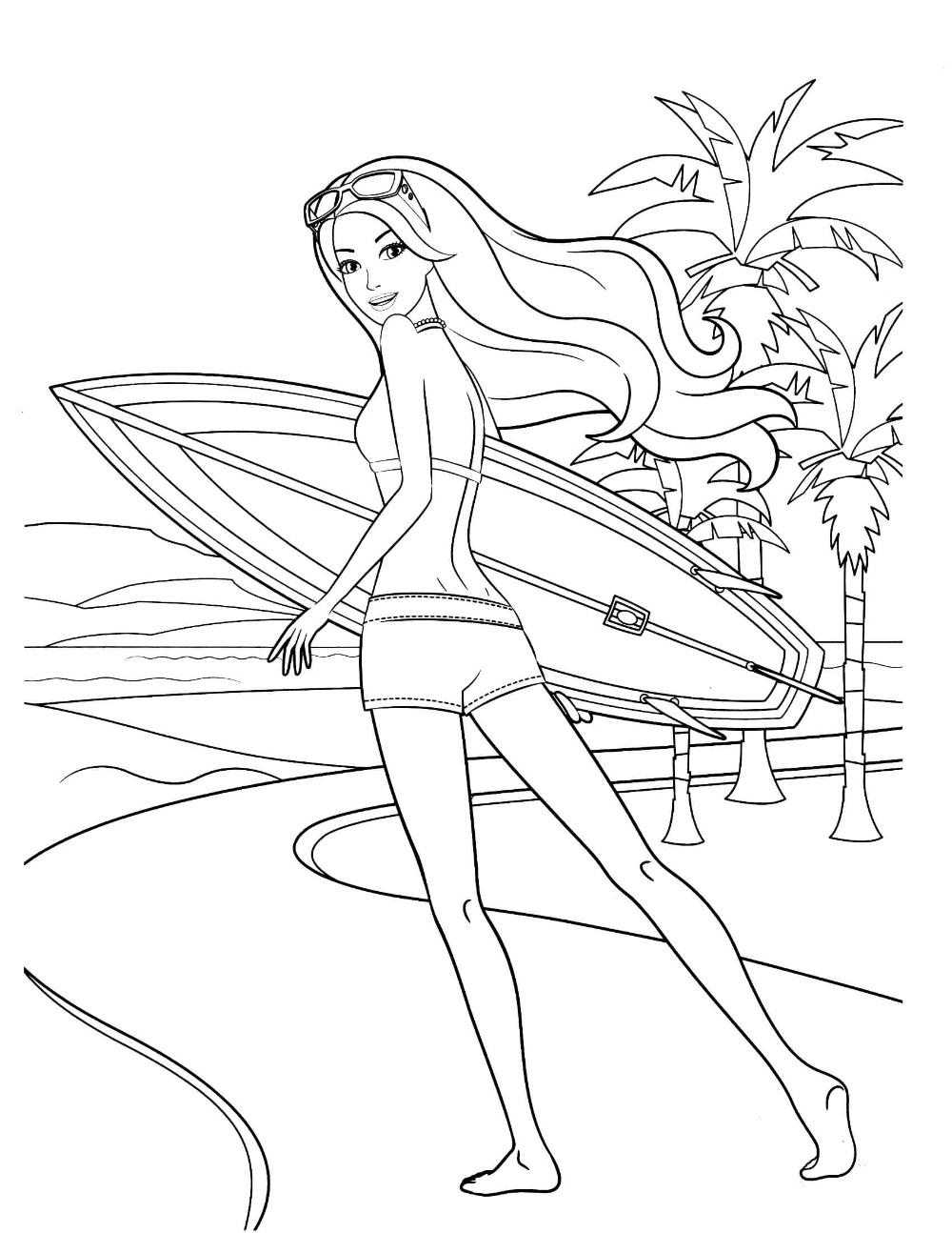 Barbie 24 Coloringcolor Com Barbie Coloring Pages Mermaid Coloring Pages Princess Coloring Pages [ 1294 x 1000 Pixel ]