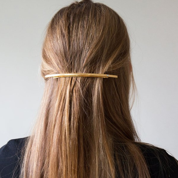 Sylvain Le Hen Gold Hair Barrette - Gold on Garmentory