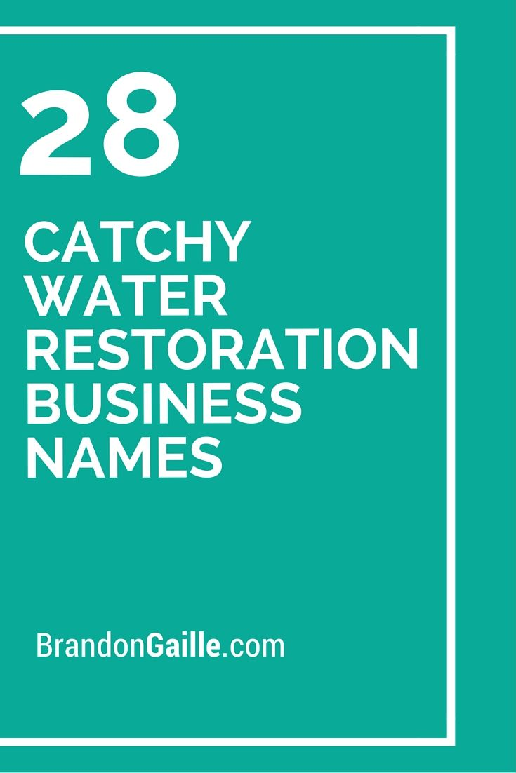 101 Catchy Water Restoration Business Names Business Names Business Slogans Catchy Slogans