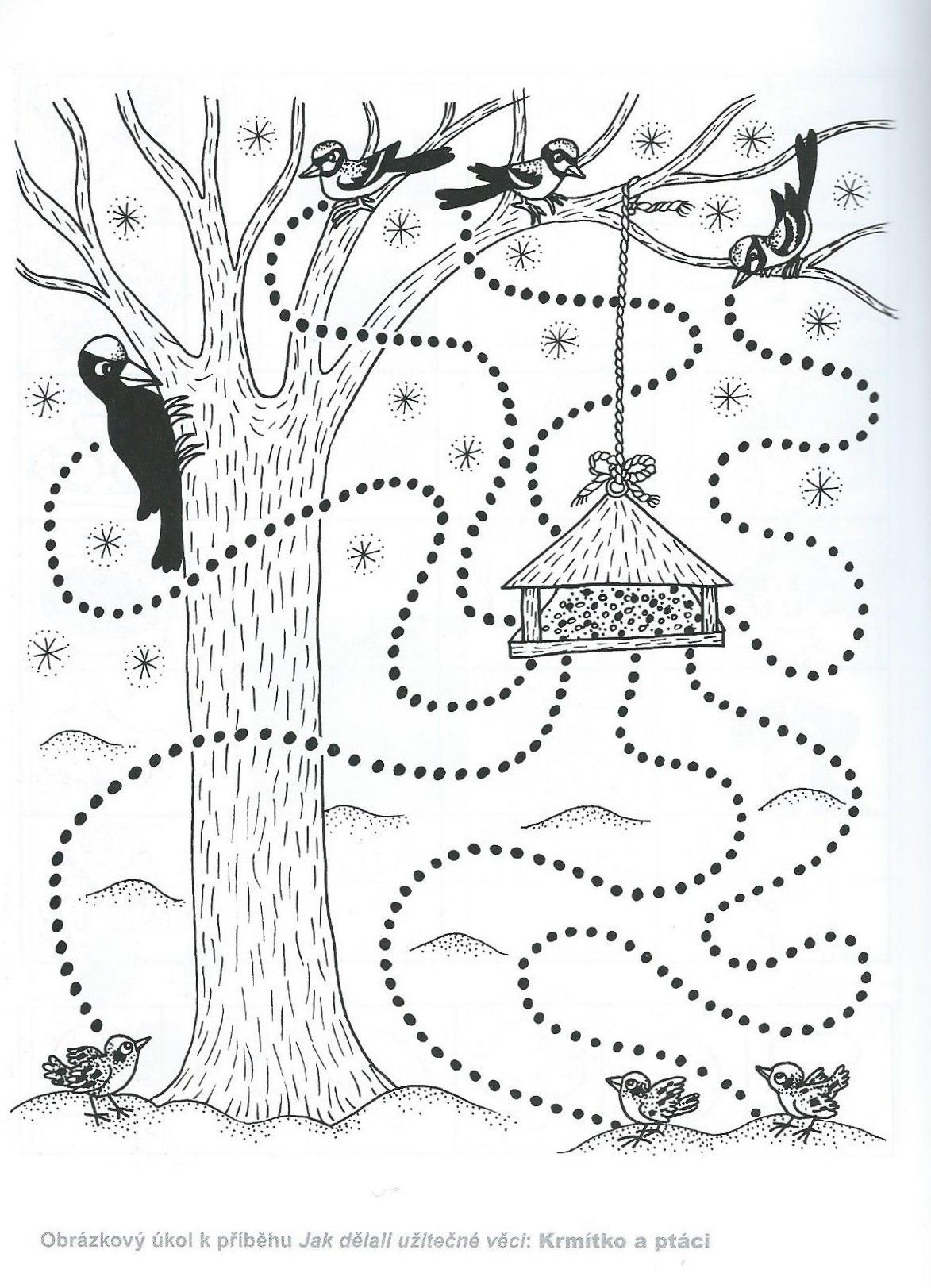 Birds Tracing Worksheet Ficha De Trazo Con Pajaros