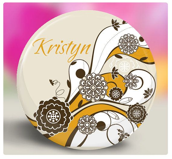 Bridesmaid Gift  Personalized Pocket Mirror  by SpotlightMirrors, $4.00