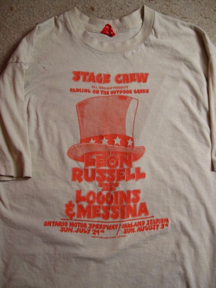 33dd9304 Vintage 70s Concert T-Shirt featuring Leon Russell with Loggins & Messina