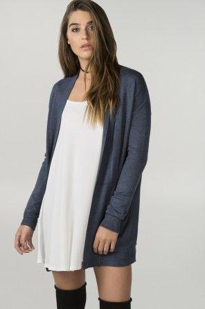 Heather blue cardigan