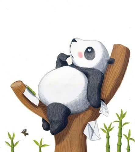 Miriam Latimer Illustration - miriam latimer, acrylic, paint, painted, traditional, commercial, picture book, picturebook, sweet, animals, pandas