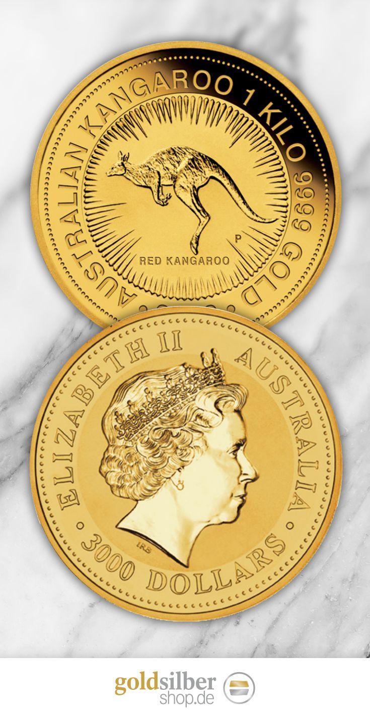 1 Kg Gold Australien Kanguru Die 1 Kg Australien Nugget Kanguru Goldmunze Wird Mit Gold In Einer Feinheit Gold Coins Money Gold Krugerrand Gold Bullion Coins