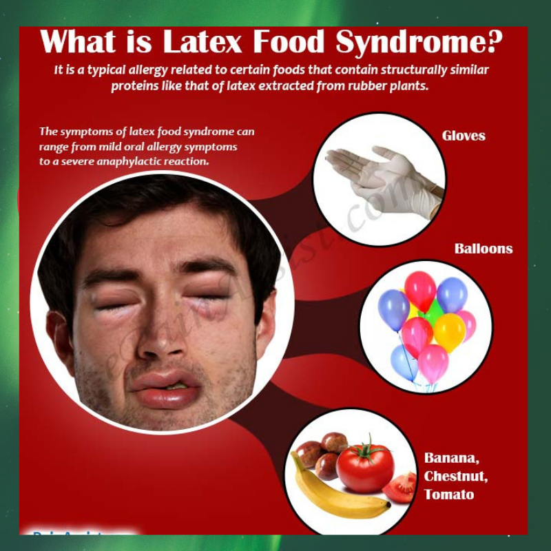 Jelly latex allergy symptoms mouth oral
