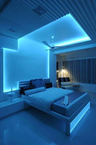 Best Modern Bedroom In Blue Light Neon Bedroom 640 x 480