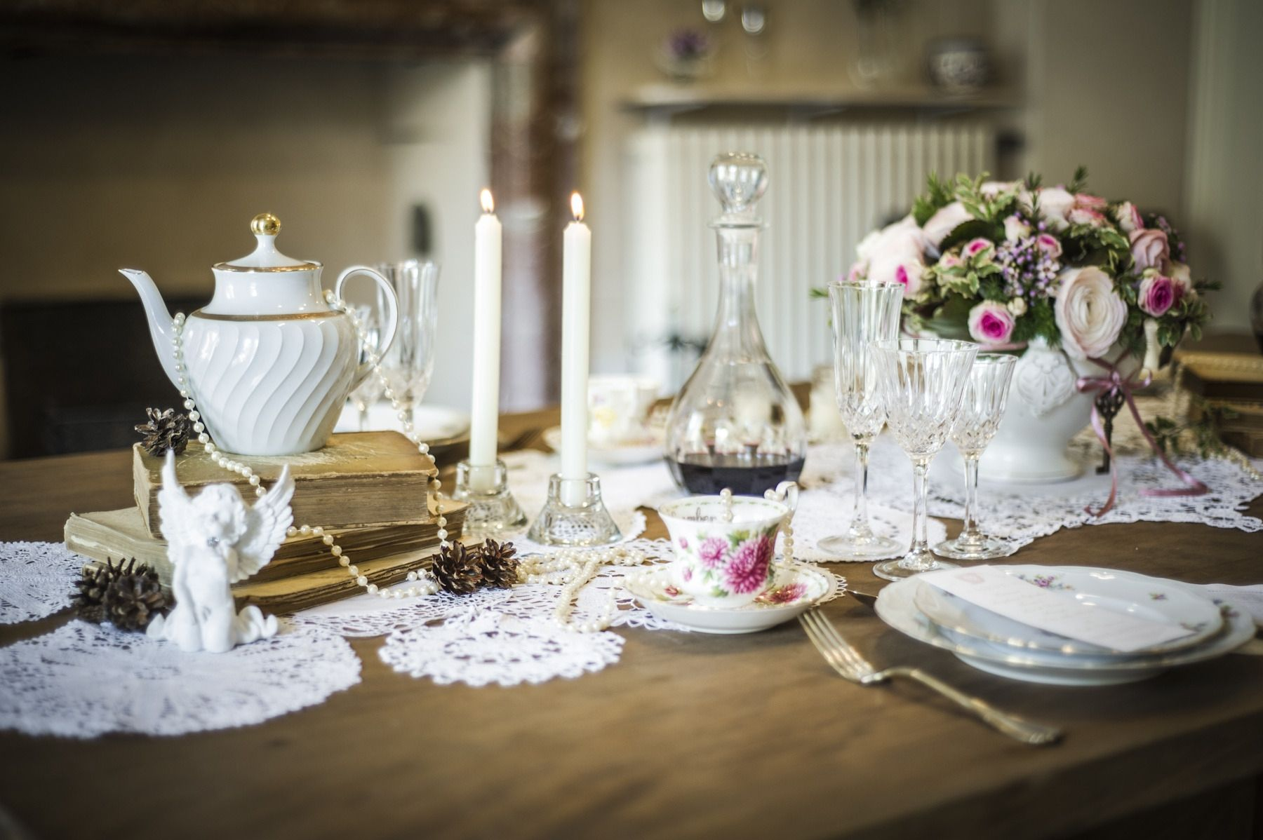 Vintage bridal shower table setting http images lover