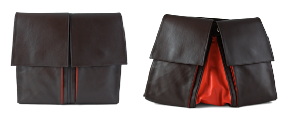 Sometimes, Hester hides red so it can be a surprise! Like in this cross-body bag called Montignac. www.HVEUS.com