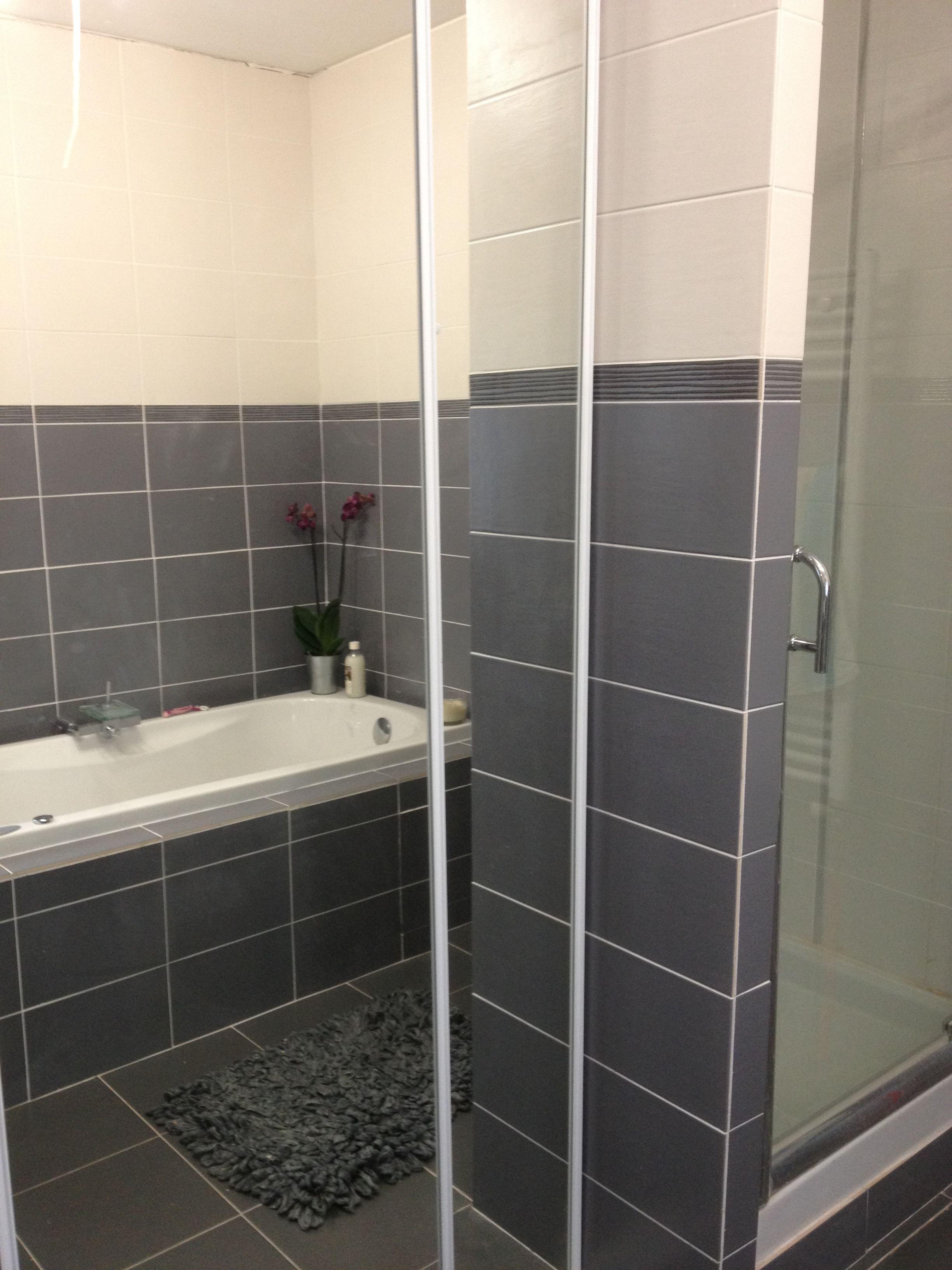 related for carrelage salle de bain blanc et gris - Faience Grise Pour Salle De Bain