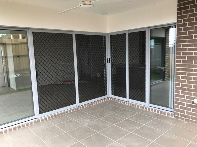 Sliding 7mm Safety Screen Doors Fitted To Stacker Doors Security Screen Door Screen Door Door Blinds