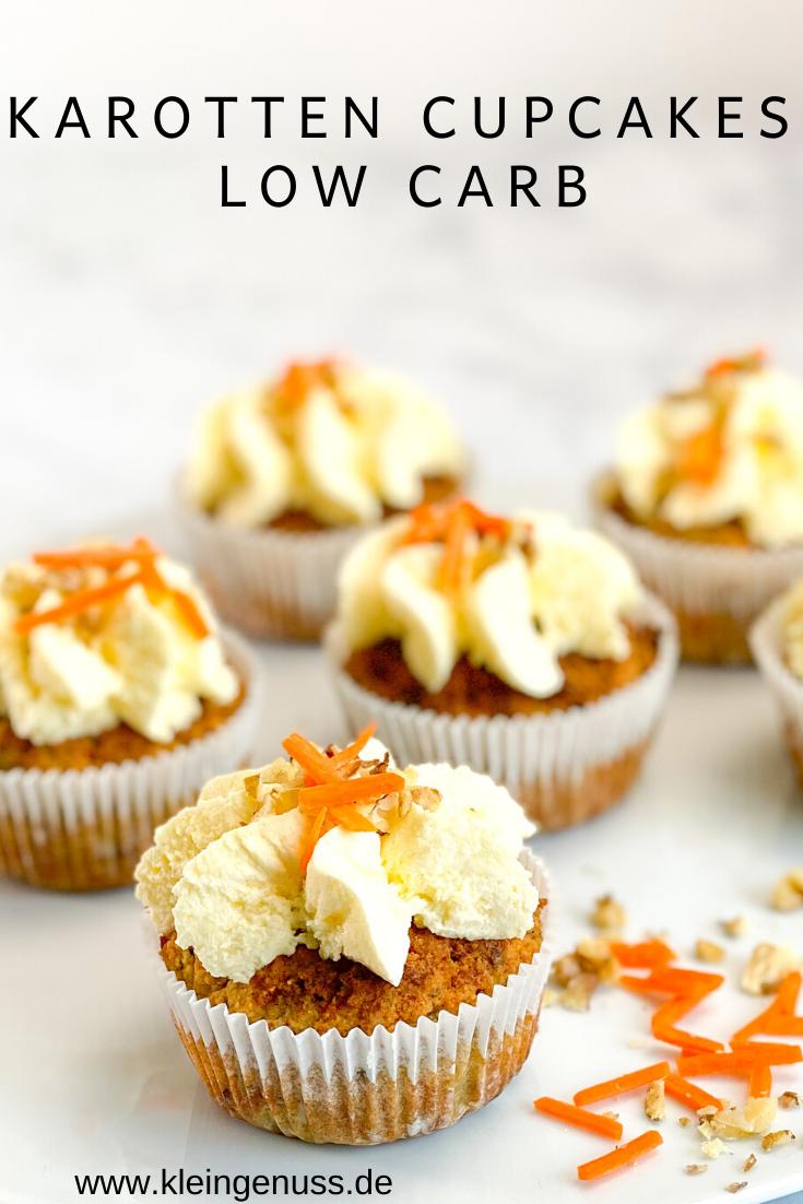 Low Carb Karotten Cupcakes