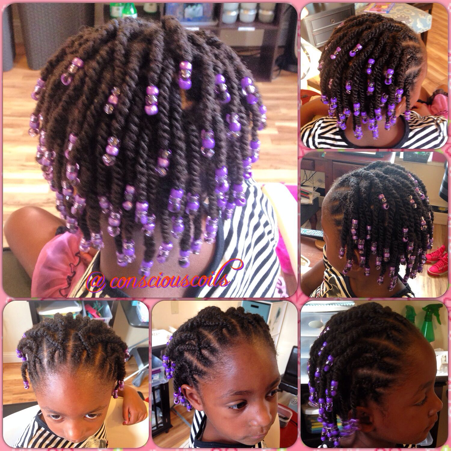 Style Cornrows And Twists With Beads Client S Hair Type