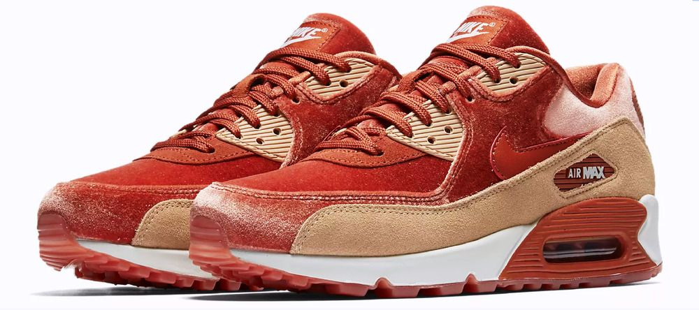 check out eee12 313a9 Nike Air Max 90 LX Crushed Velvet Dusty Peach Bio Beige New Women s Size 9   Nike  LowTop