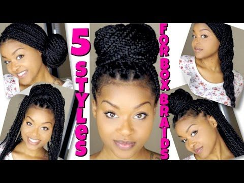 18 Quick Easy Box Braids Hairstyles 2017 Beginner Friendly Youtube Box Braids Hairstyles Box Braids Pictures Single Braids