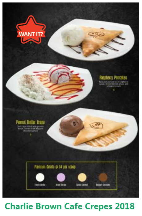 Singapore Best Pancake Crepe Promotion 2018 Now At Charlie Brown Cafe Cathay Cineleisure Orchard Mall Che Dinner Restaurants Charlie Brown Cafe Western Food