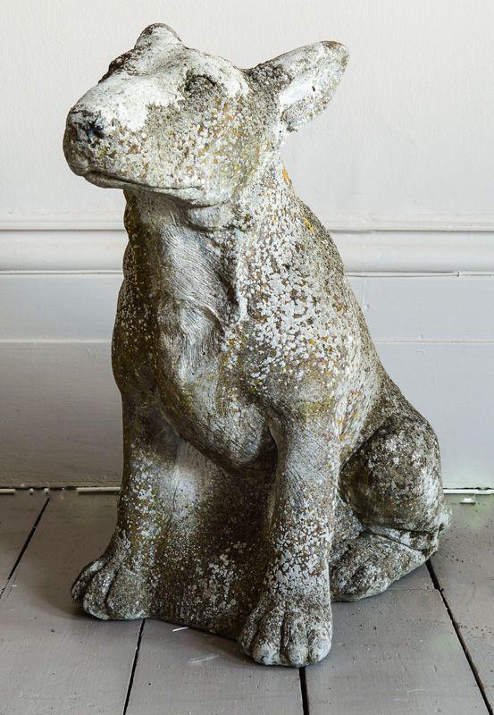 Old Garden Statue: English Bull Terrier~ Antique Garden Statue