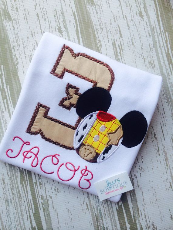 Woody Mouse Birthday Shirt by LillysBowtique on Etsy