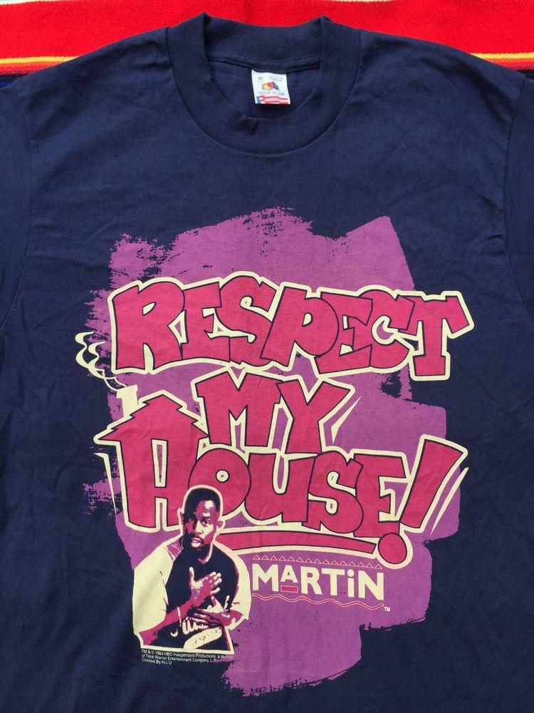 7c7d80826 VTG MARTIN Lawrence 1994 TV Show Respect my House t shirt M 90s Hip Hop USA