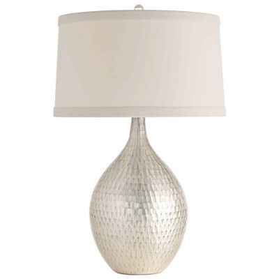 Arteriors walter distressed mercury glass table lamp