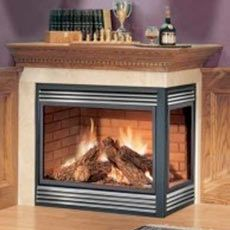 Napoleon Bgnv40n3 Peninsula Open 3 Sides With Black Door Bgnv40n Multi View Natural Vent Vent Free Gas Fireplace Corner Gas Fireplace Outdoor Gas Fireplace